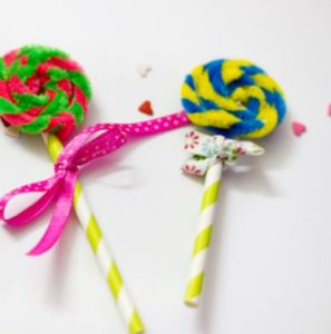 Sweet Little Pipe Cleaner Lollipops