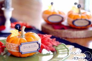 DIY Pumpkin Thanksgiving Place Setting