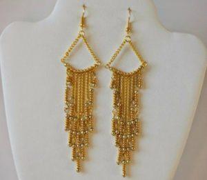 Gorgeous Golden Chandelier Earrings