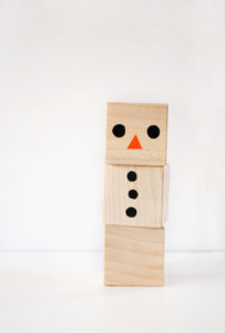 Wooden Wonderland Snowman Blocks Craft