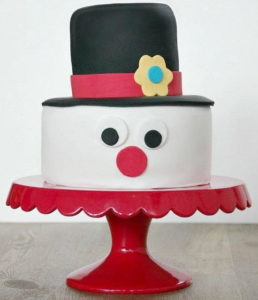 Snowman Cake Design for Kids