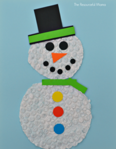 Bubble Wrap Snowman Craft for Kids