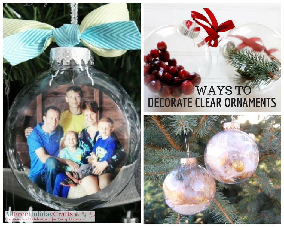 Ways to Decorate Clear Ornaments