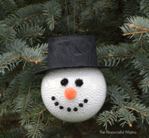 DIY Frosty the Snowman Ornament