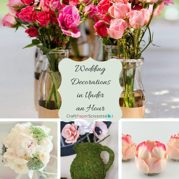 17 Wedding Decorations to Make in Under an Hour