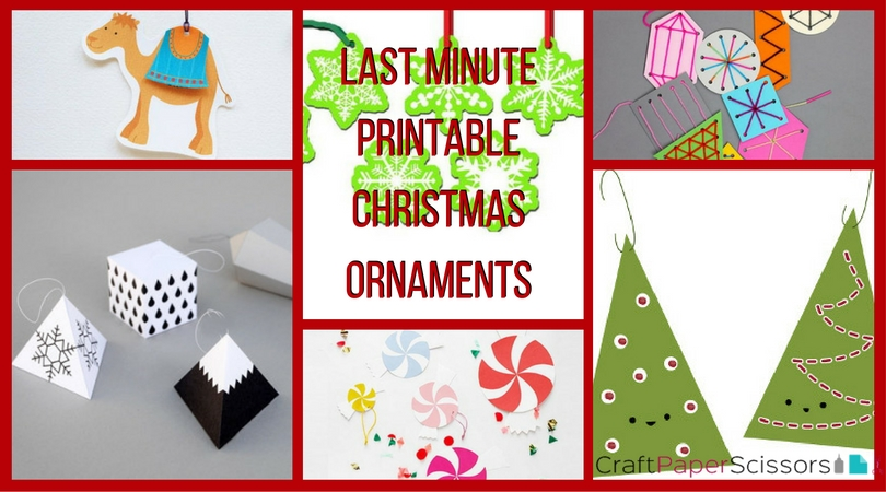 Last Minute Printable Christmas Ornaments