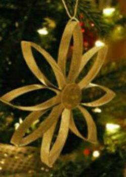 Gorgeous Toilet Tube Snowflake Ornament