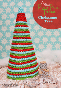 Mini Pom Pom Table Top Christmas Tree