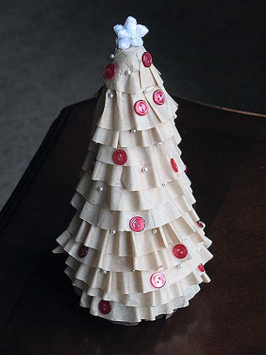 Cute Coffee Filter Christmas Trees