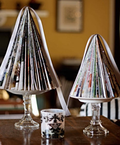 Miniature Magazine Christmas Trees