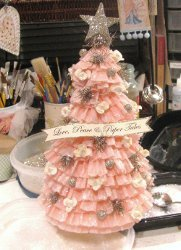 Crepe Paper Christmas Tree