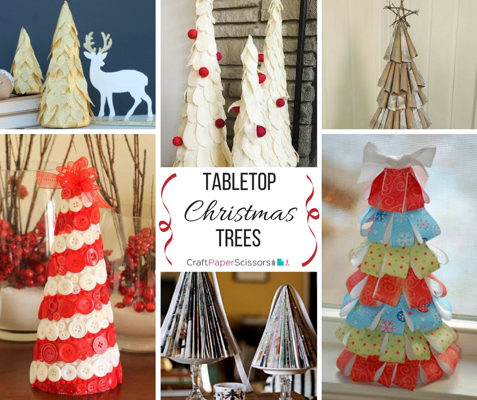 Tabletop Christmas Trees Collage