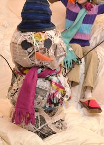 Nifty Newspaper Snowmen