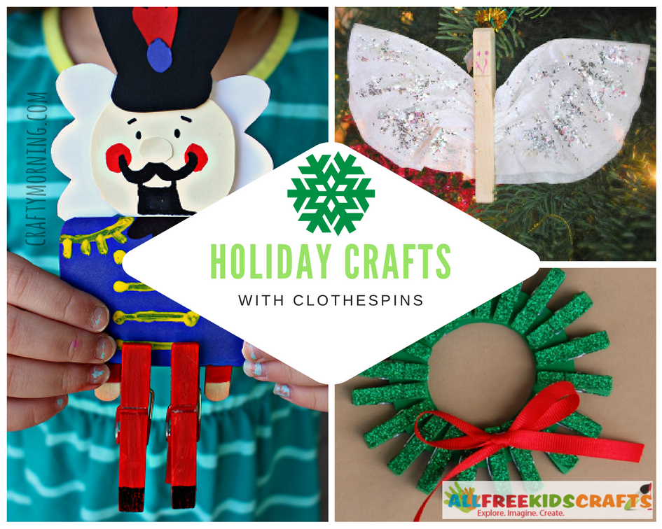 Holiday Crafts with Clothespins
