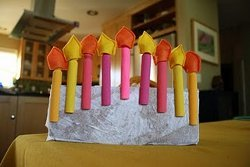 Make a Clothespin Menorah