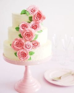 Climbing Roses DIY Wedding Cake
