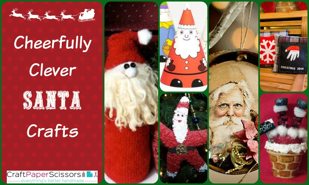 15 cheerfully clever santa crafts craft paper scissors. Black Bedroom Furniture Sets. Home Design Ideas