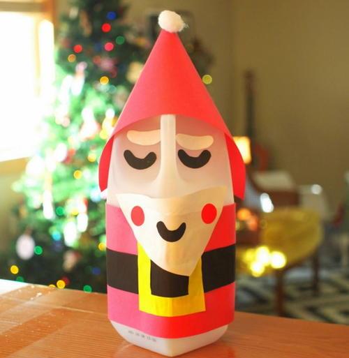 Simple Santa Claus Milk Jug Craft