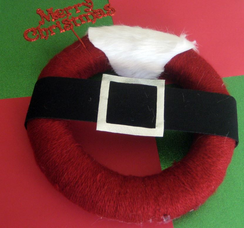 Santa's Belly Belted Wreath