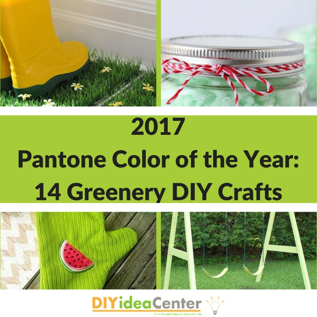 2017 Pantone Color of the Year: 14 Greenery DIY Crafts