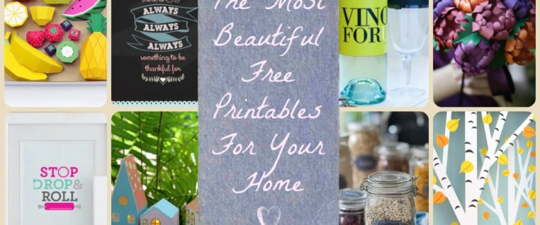 13 of the Most Beautiful Free Printables for Your Home