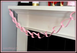 Paper Chain Heart Garland