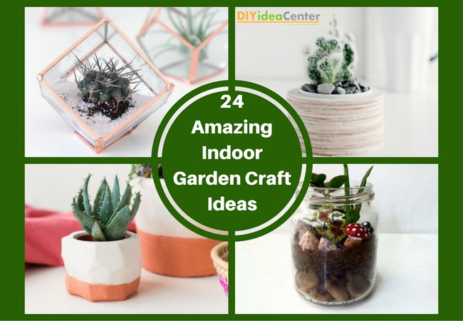 24 Amazing Indoor Garden Craft Ideas