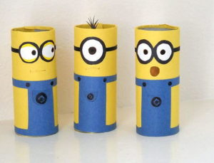 Cardboard Tube Minion Crafts