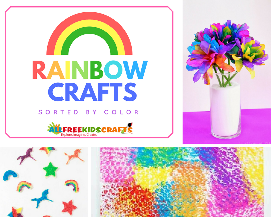 Rainbow Crafts Sorted by Color