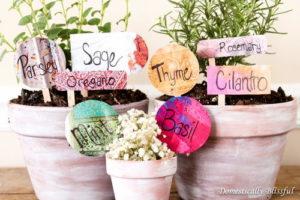 Anthropologie-Inspired DIY Garden Markers
