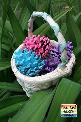Pine Cone Easter Egg Craft