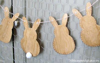 Rustic Wood Bunny Banner