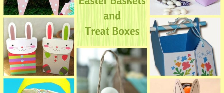 12 EGGceptional Paper Easter Baskets and Treat Boxes