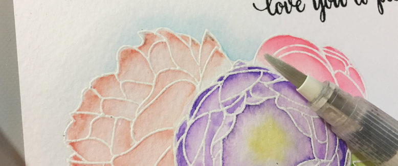 Creating a Simple (and Sparkly) Watercolor Card