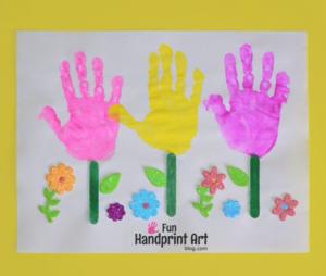 Cheerful Handprint Flowers Garden