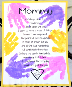 Adorable Printable Poem for Mother's Day