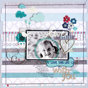 Love This Moment Scrapbook Layout