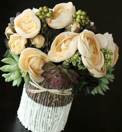 Hand Painted Twig Centerpiece