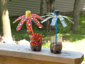 Fun Plastic Bottle Flowers