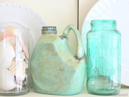 Syrup Bottle Upcycled Pitcher