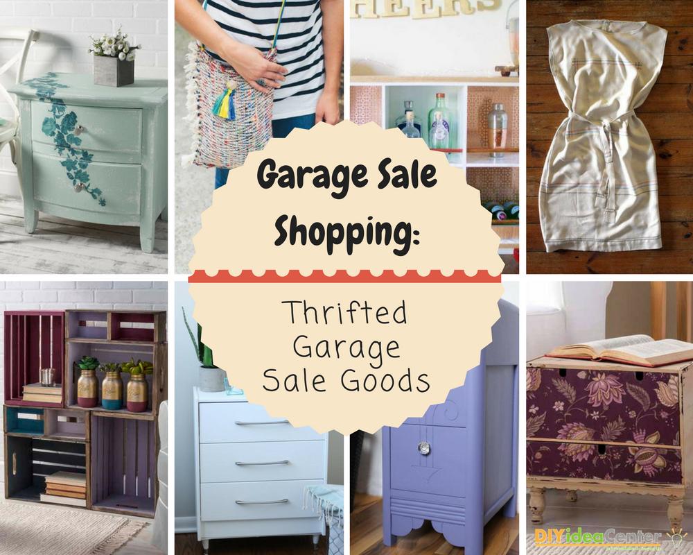 Garage Sale Shopping: Thrifted Garage Sale Goods - Craft Paper ...