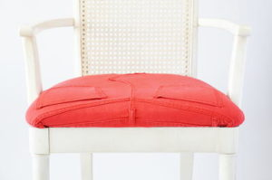 How to Reupholster a Chair with Jeans