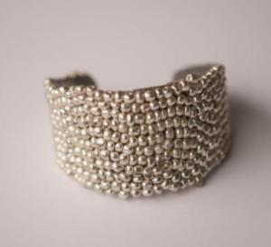 Metallic Silver Cuff Bracelet