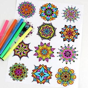 Mini Mandala Coloring Pages