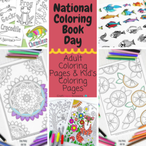 Who says you're too old to color: National Coloring Book Day + Giveaway