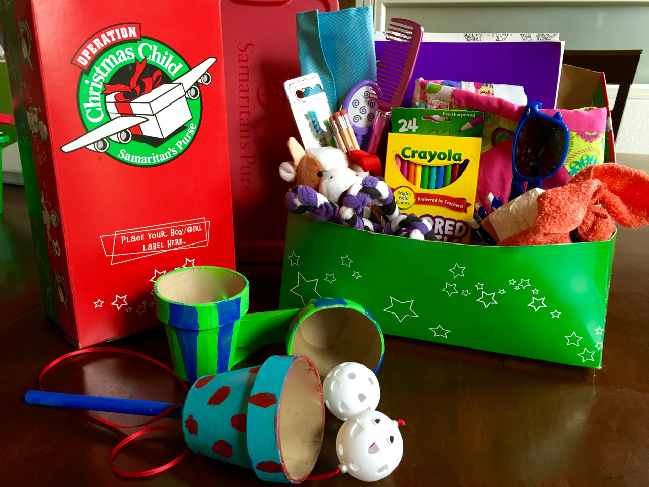Operation Christmas Child Craft Paper Mach Flower Pot Games