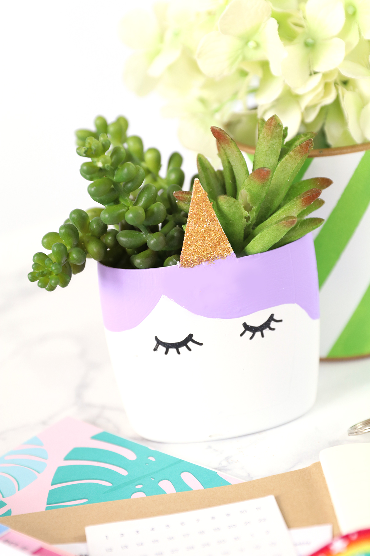 Miniature Upcycled Unicorn Planter