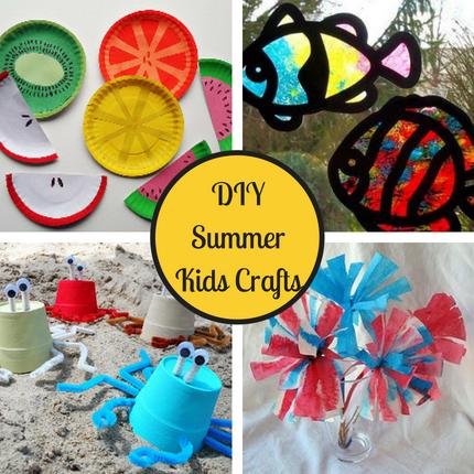 28 DIY Summer Kids Crafts