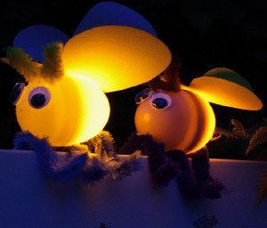 Unexpected Plastic Egg Fireflies