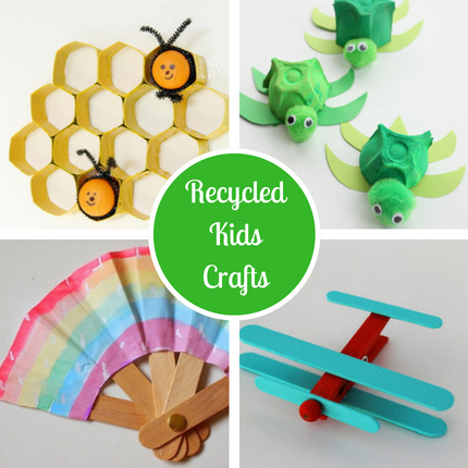 Go Green! 30 Recycled Crafts for Kids of All Ages